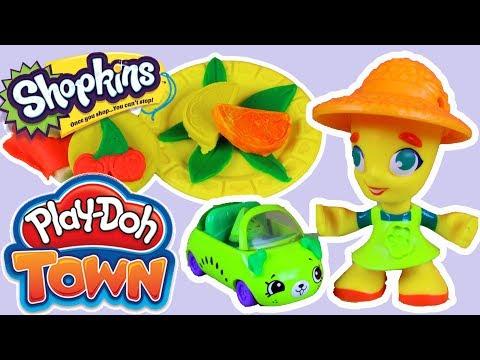 Play Doh Town & Lunchtime Creations • Owocowe samochodziki i smakołyki • Shopkins Cutie Cars • bajki