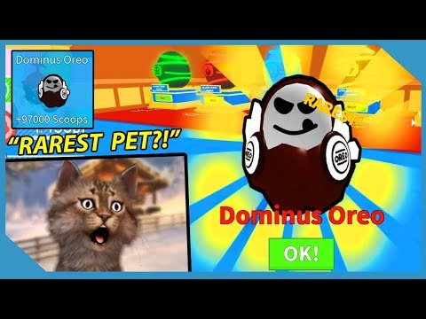 I Got the Dominus Oreo Pet! - Roblox Ice Cream Simulator