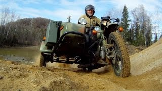 4. The Mighty Suzuki DR650 a Ural Gear Up and a BMW HP2 Enduro in the dirt.