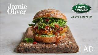 Veggie Bhaji Burger | Jamie Oliver & Range Rover Evoque | AD by Jamie Oliver
