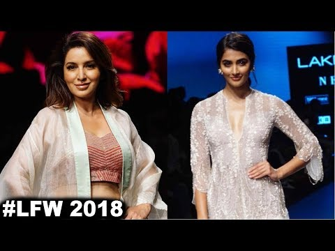 Pooja Hegde & Tisca Chopra Showstopper For Designer Ridhi Mehra & Vineet Rahul  At LFW 2018