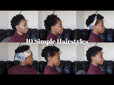 Short hair styles - 10 Super EASY & QUICK Short Natural 4b/4C Hairstyles