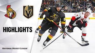 Senators @ Golden Knights 10/17/19 Highlights by NHL