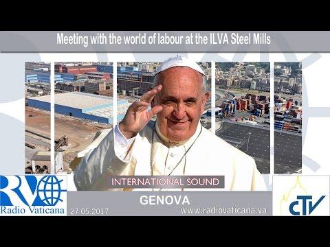 Papa osudio špekulante prilikom posete radnicima (VIDEO)