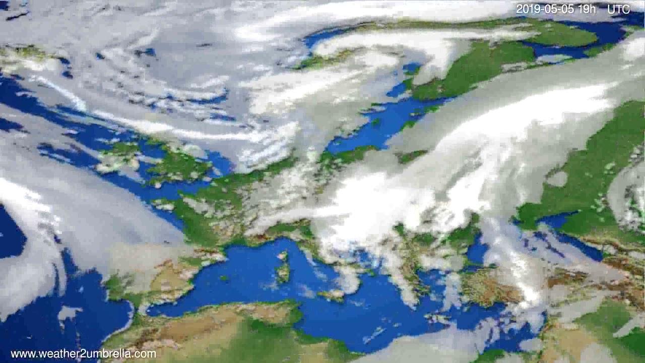 Cloud forecast Europe // modelrun: 12h UTC 2019-05-02