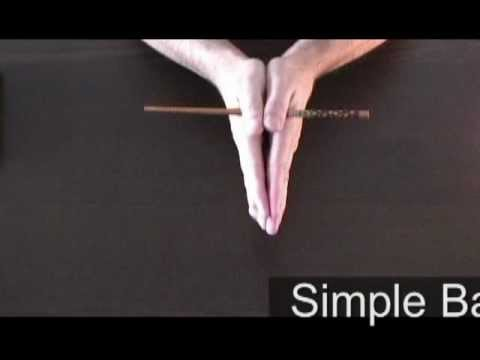 """Pen From Top To Bottom, Funny """"Bar Trick."""""""