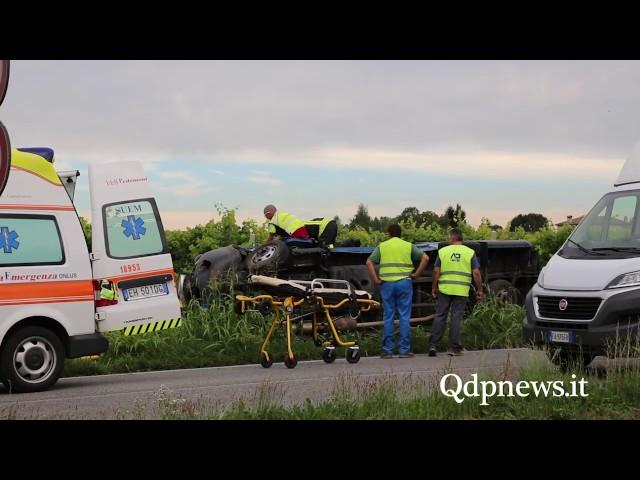 Vidor - incidente lungo la sp 34 via Sernaglia