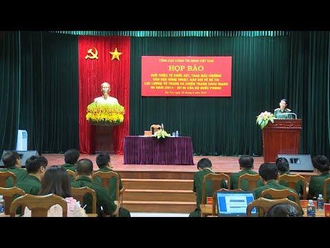 Họp báo trao Giải Báo chí về đề tài lực lượng vũ trang và chiến tranh cách mạng