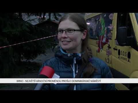 TV Brno 1: 23.11.2017 Největší vánoční proměnou prošlo Dominikánské náměstí