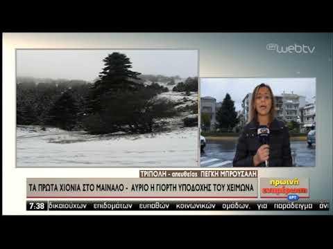 Τα πρώτα χιόνια στο Μαίναλο | 29/11/2019 | ΕΡΤ