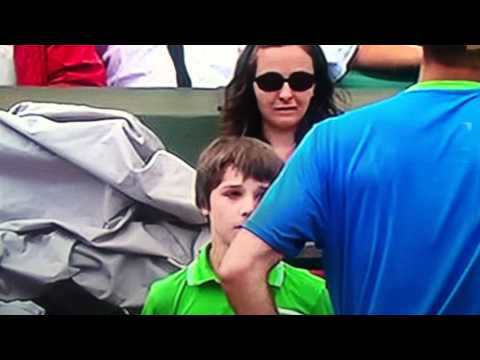 Ball Boy makes mistake