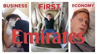 Video EMIRATES FLIGHT COMPARISON: First Class vs Business vs Economy MP3, 3GP, MP4, WEBM, AVI, FLV Agustus 2019