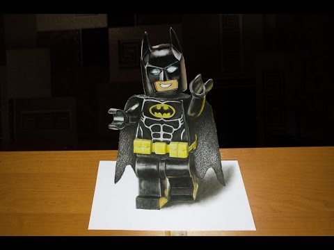 3D Drawing: Lego Batman - Movie