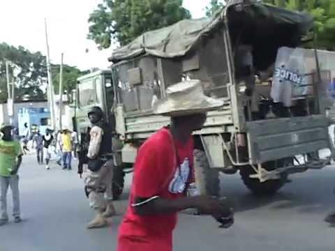 Altercations entre la police et des manifestants à l'occasion des manifestations du 17 janvier 2015