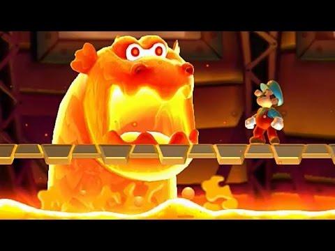 New Super Mario Bros U - All Castle Bosses (видео)