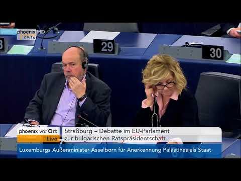 EU-Parlament: Debatte zur bulgarischen Ratspräsidents ...