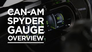 8. 2018 Can-Am Spyder Gauge Overview