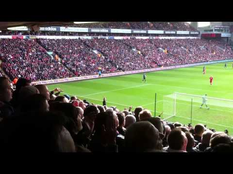 Man Utd Fans Outsinging Liverpool At Anfield 2012