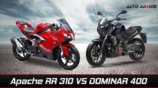 Video Tvs Apache RR 310 Vs Bajaj Dominar 400 comparison MP3, 3GP, MP4, WEBM, AVI, FLV Desember 2017