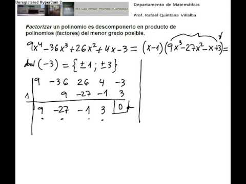 Vídeos Educativos.,Vídeos:Factorizar polinomios III