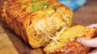 The BEST Party Food | Buffalo Chicken Pull Apart Bread by Tastemade
