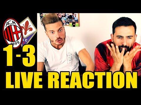 [DISASTRO TOTALE] MILAN - FIORENTINA: 1-3 LIVE REACTION
