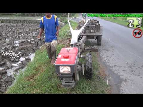 Yanmar Diesel Engine Hand Tractor Starting Driving