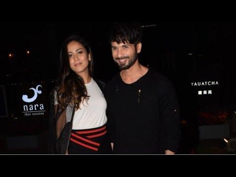 Shahid Kapoor & Mira Rajput Spotted At Yauatcha Mumbai