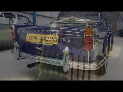 Triumph TR4 with rare surrey top at Firma Trading Classic Cars Australia