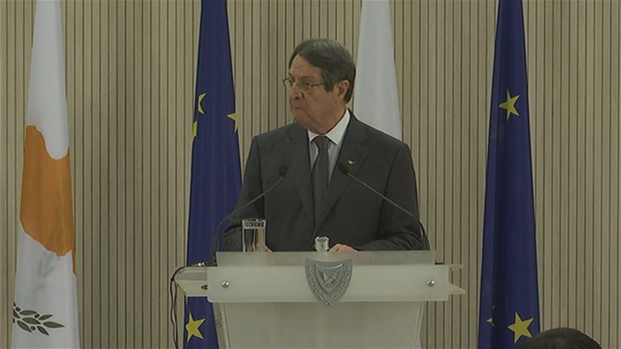 Kοινές Δηλώσεις Ν. Αναστασιάδη με τον πρόεδρο του Ευρωπαϊκού Συμβουλίου Σαρλ Μισέλ