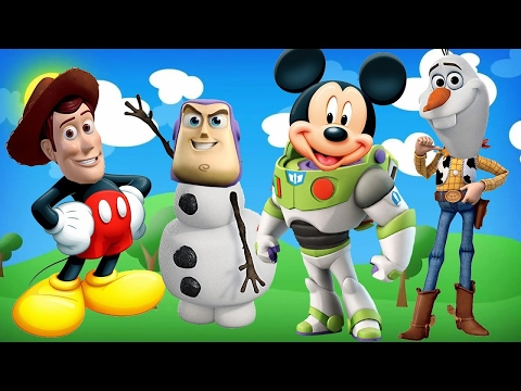 Video Wrong Heads Toy Story Sheriff Woody Mickey Mouse Buzz Lightyear Disney Olaf Nursery Song For Kids download in MP3, 3GP, MP4, WEBM, AVI, FLV January 2017
