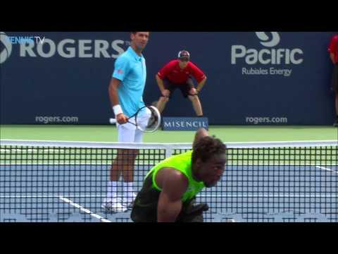 Gael Monfils Top 5 Moments Versus Djokovic Toronto 2015 ( Hot )