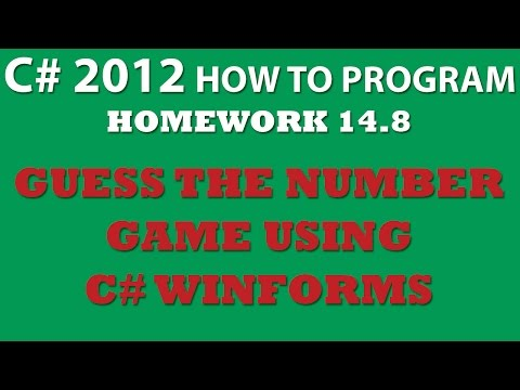 C# Guess the Number Game Using Winforms (Ex 14-8)