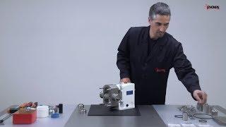 SLR lamelové čerpadlo - proces montáže těsnicích kroužků