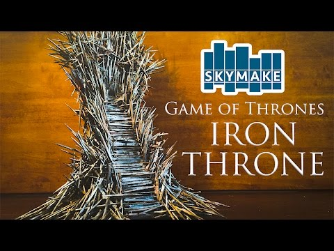 Artist Makes Miniature Iron Throne True to What the Throne Should Look