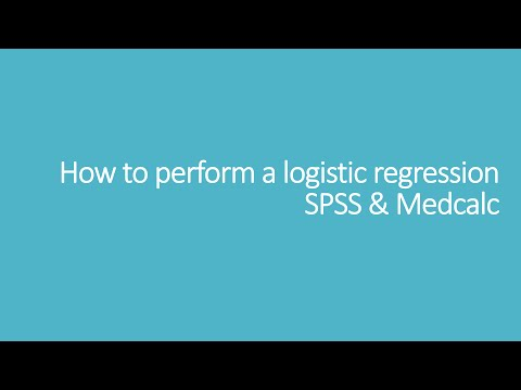 How to perform a logistic regression: SPSS & Medcalc