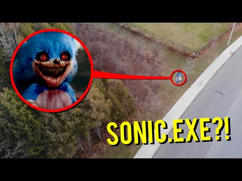 DRONE CATCHES SONIC.EXE AT HAUNTED FOREST RUNNING AROUND!! (HE CAME AFTER US!!)