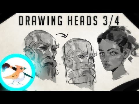 Tutorial - Drawing Heads 3/4 view
