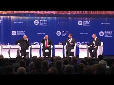 Igor Dodon a rostit un discurs în cadrul Forumului Economic Internațional din Sankt Petersburg