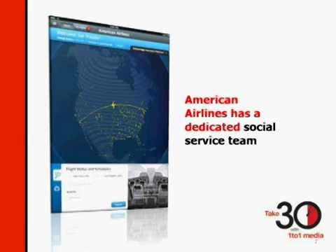 American Airlines' Social Service Soars