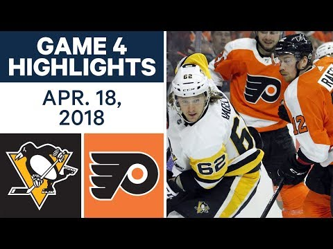 NHL Highlights | Penguins vs. Flyers, Game 4 - Apr. 18, 2018
