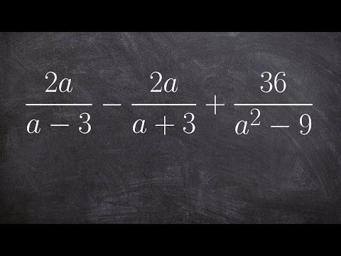Adding and subtracting three rational expressions