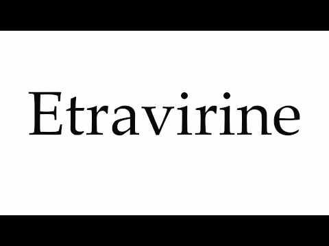 How to Pronounce Etravirine