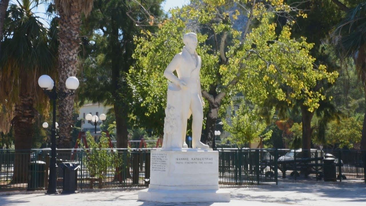 Αποκαταστάθηκε ο ανδριάντας του πρώτου κυβερνήτη της χώρας Ιωάννη Καποδίστρια στο Ναύπλιο
