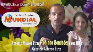 Homenagem a todas as mulheres do mundo - Autor: Antonio Marcos Pires (Toninho Bondade)00 - História do dia internacional da Mulher https://youtu.be/eqTKBX7of4k01 - Mulher, teu nome é fortaleza - Cid Moreira https://youtu.be/wU47_NMdRvA02 - A sabedoria da mulher https://youtu.be/mGLHwTis5FA03 - Como ama uma mulher https://youtu.be/DzR0dIgcKgU04 - A importância da mulher https://www.youtube.com/watch?v=MsClXY6lzZQ05 - A mulher é... https://youtu.be/8CKb5a5GFm006 - A mulher de ouro https://youtu.be/jtX_CTl2W-M07 - A feminilidade da mulher https://youtu.be/NtkZVZ4zAME08 - Mulher e Deus https://www.youtube.com/watch?v=vYVT91styFE09 - Dia internacional da mulher https://www.youtube.com/watch?v=eqTKBX7of4k10 - A mulher e o amor https://www.youtube.com/watch?v=iPLE1IY55cg11 - Mulher teu nome é fortaleza https://www.youtube.com/watch?v=PoiwUrGJ7WQ12 - A mulher é um pedaço do paraíso https://www.youtube.com/watch?v=hcSLzkkogBQ13 - Mulher é puro sentimento https://www.youtube.com/watch?v=W15TD92v0Cc14 - Mulher especial é aquela https://www.youtube.com/watch?v=2v5oj5H_llU15 - A mulher sincera https://youtu.be/j6z3ZTZe-1Y16 - A emoção da mulher https://youtu.be/wAywFkUP1Tk17 - Mulher, presente de Deus https://youtu.be/9aqTEQCNwvc18 - O colorido da mulher https://youtu.be/BMPi9xxaYVc19 - Nós mulheres https://youtu.be/2BGSr8vRKdQ?list=PLYLyzw3f87bfvtjiw2qhmNahxlvgCcY8F20 -  O coração de uma mulher https://youtu.be/P9nsjL2dxuo21 - O mistério da mulher https://youtu.be/04kv7Lr2mUw22 - Toda mulher é bonita https://youtu.be/bwLXBhX-NNA23 - Mulheres perfumadas https://youtu.be/e2SUId4qsBUA importância da mulher Dia 8 de março – Dia Internacional da MulherMulherGeradora da vida...guerreira, batalhadoraAo mesmo tempo terna, meiga, dócil, carinhosaE companheira.Fonte de luz, incansável nos compromissos diários,Muitas vezes  trabalha foraE ainda cuida da casa, dos filhos e do companheiroSempre  com um sorriso no rosto ,Uma palavra de conforto e um brilho especial no olhar.Protegem a famíli