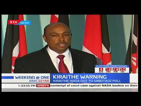 Government spokesman Eric Kiraithe links IEBC commissioners resignation to NASA_Űrhajó videók