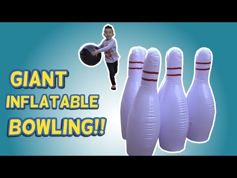 Kids Fun Toys Giant Inflatable Bowling Set Indoor Outdoor Game