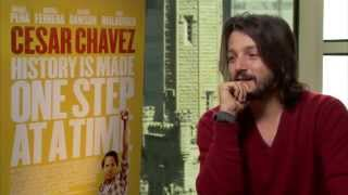 Diego Luna talks 'Cesar Chavez' and why he cast Michael Pena