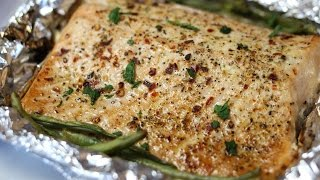 See how to make this delicious Baked Lemon Pepper Salmon. It's a quick dinner recipe that is delicious and healthy!