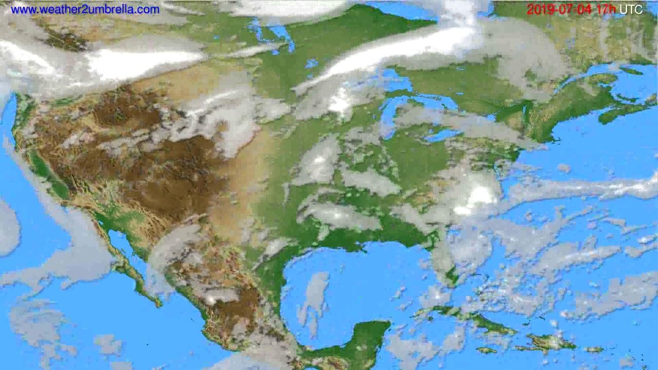 Cloud forecast USA & Canada // modelrun: 00h UTC 2019-07-03